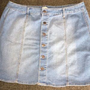 Mossimo Brand jean skirt light wash color
